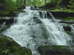 Rowlands Creek Falls in the newly created Seng Mountain National Scenic Area.